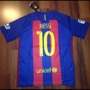 Messi Barcelona home jersey Mens size L